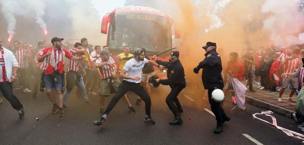 El mensaje de la Policía sobre los incidentes en el derbi: «El deporte no es esto»