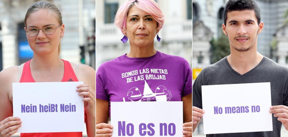 Las fiestas de San Mateo en Oviedo, contra la violencia machista