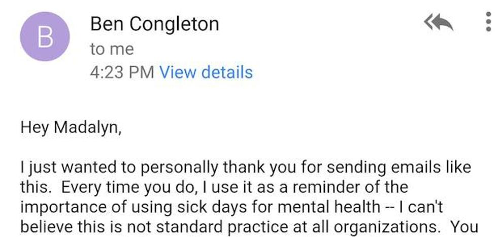 La respuesta de este jefe a una empleada que pidió días libres se vuelve viral