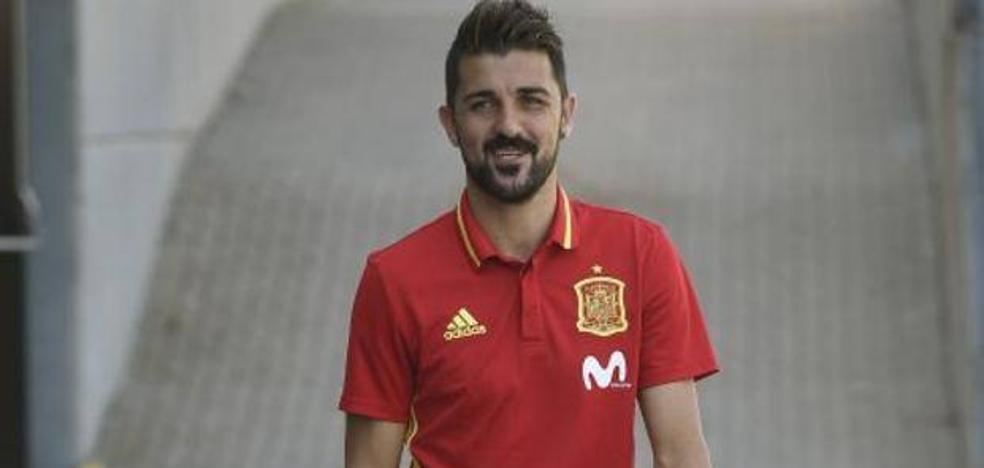 David Villa destina su camiseta de 'La Roja' a una causa solidaria