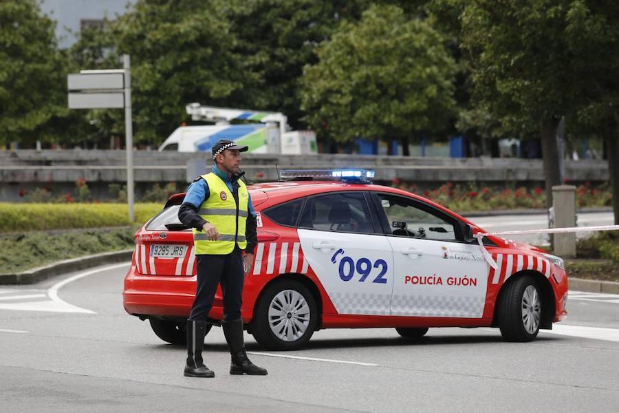 Nueva jornada de atascos en Gijón