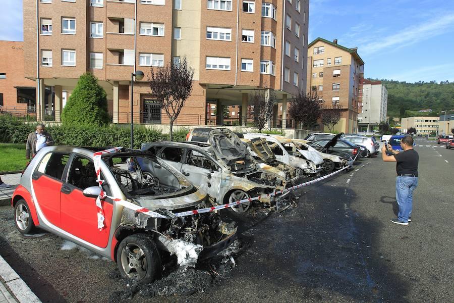 Los coches quemados de La Corredoria