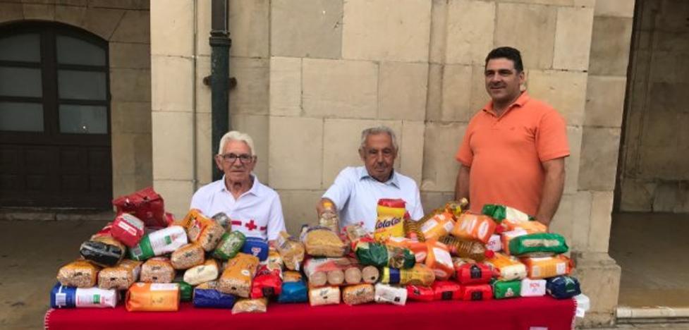 150 kilos de alimentos viajaron en el tren
