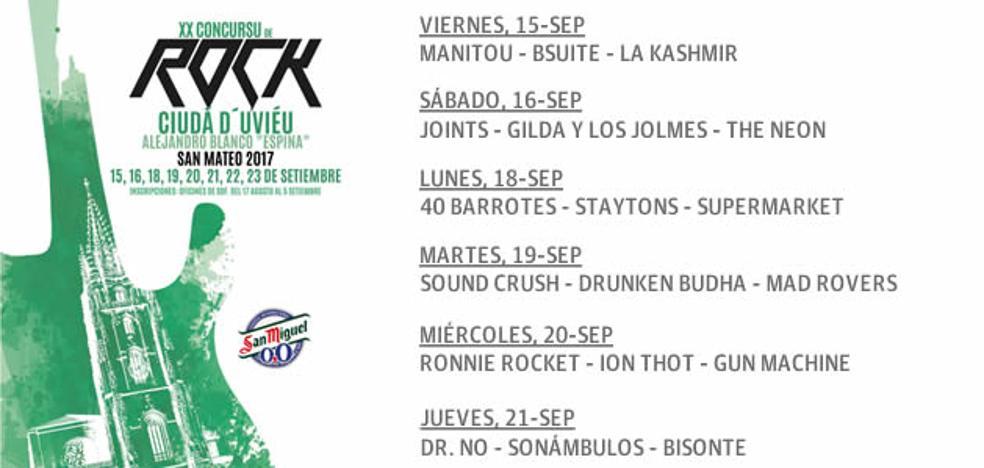 Participantes del Concurso de rock Ciudad de Oviedo 2017