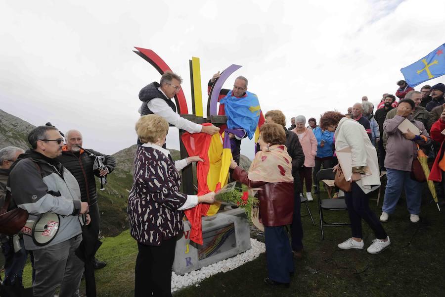 Homenaje republicano en El Mazucu, en Llanes