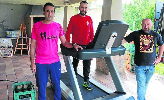 Maratón solidario sin salir de Brañiella