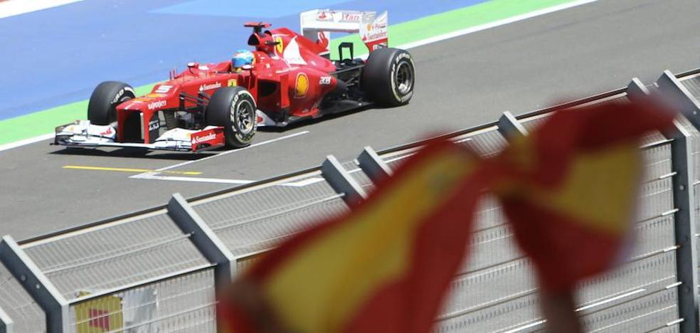 Una web de chatarras subasta los boxes que utilizó Fernando Alonso en el circuito de Valencia