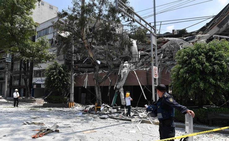 Un potente seísmo azota Ciudad de México