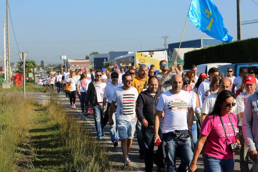 Marcha de los trabajadores de CAPSA hasta Oviedo