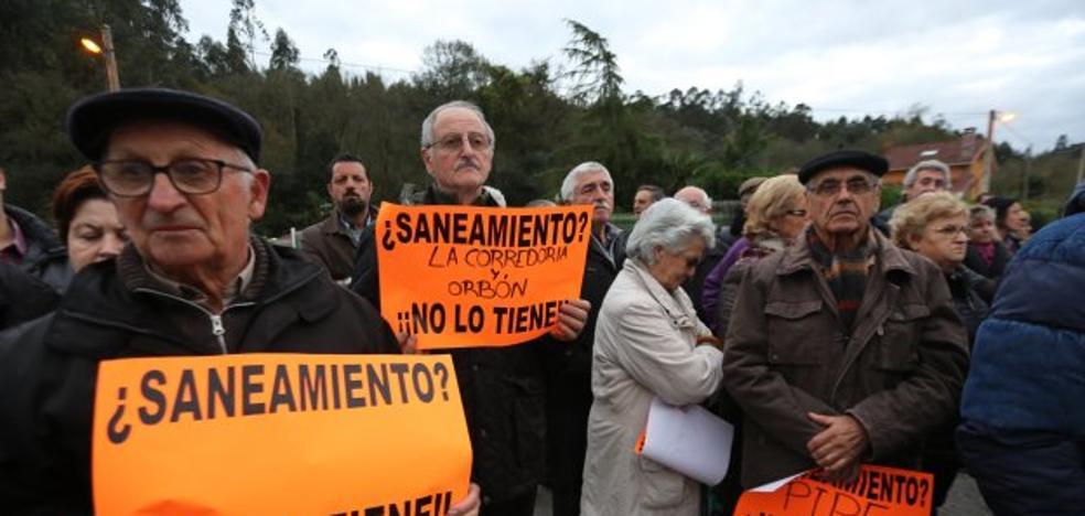 La zona sur de Castrillón se une y reclama la ejecución del saneamiento pendiente