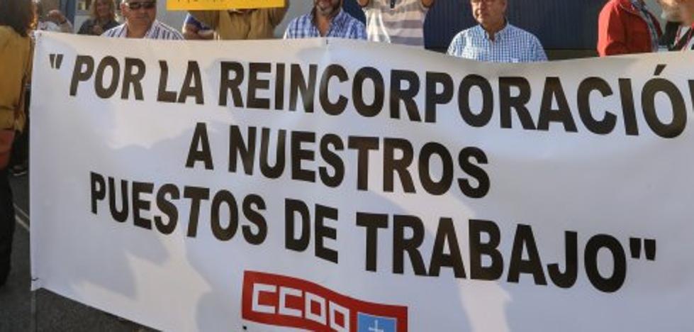 Los despedidos de Montrasa retoman sus protestas en demanda de la readmisión