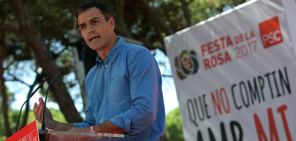 Sánchez: «El referéndum no va de echar a Rajoy, va de romper España»