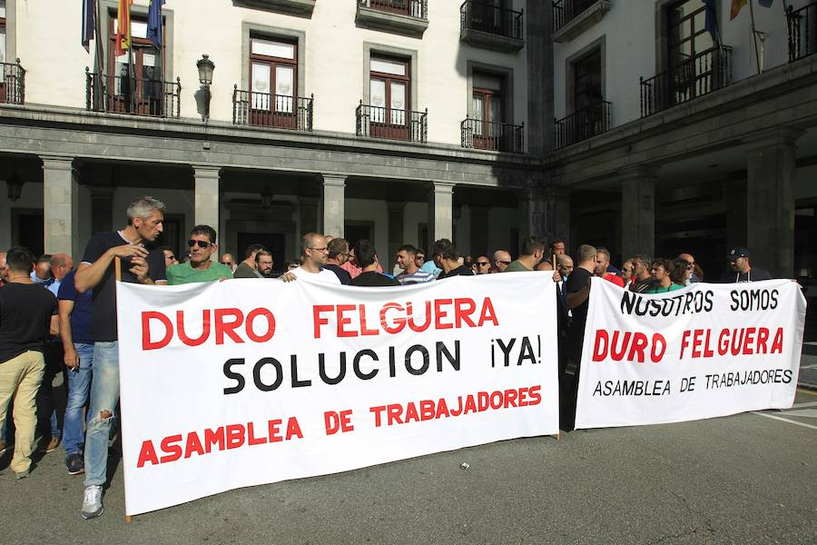 Manifestación de los trabajadores de Duro