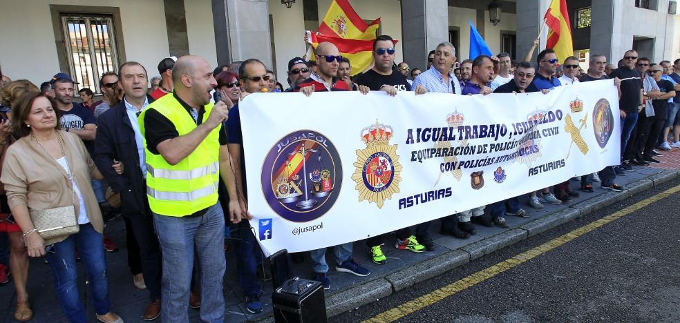 Policías nacionales y guardias civiles exigen el mismo sueldo que Mossos y Ertzaintza