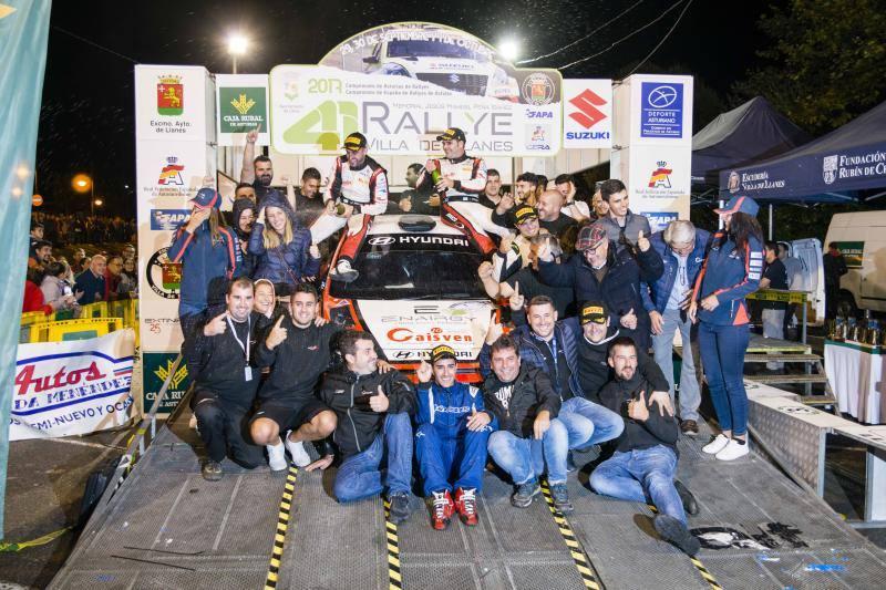 Iván Ares y José Pintor triunfan en el rally Villa Llanes