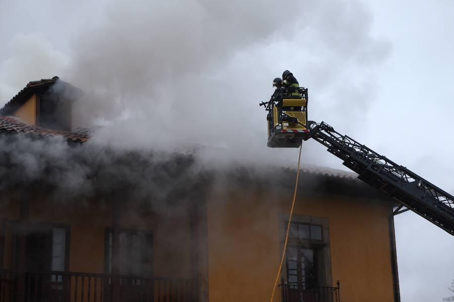 Incendio en el Palacio de Lieres