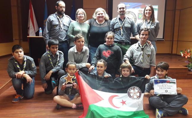 Los scouts de Candás ganan el galardón Estrella de Arena