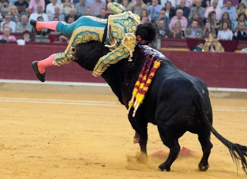 Las terribles imágenes de la cogida de Cayetano Rivera en Zaragoza