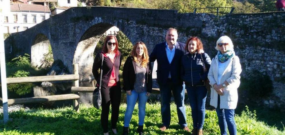 IU anuncia que llevará al Parlamento el arreglo del Puente de Arco en Laviana