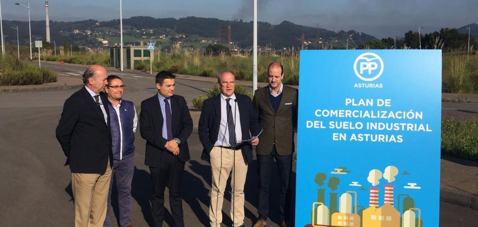 El PP reclama un «plan urgente» para vender el suelo industrial en manos del Principado