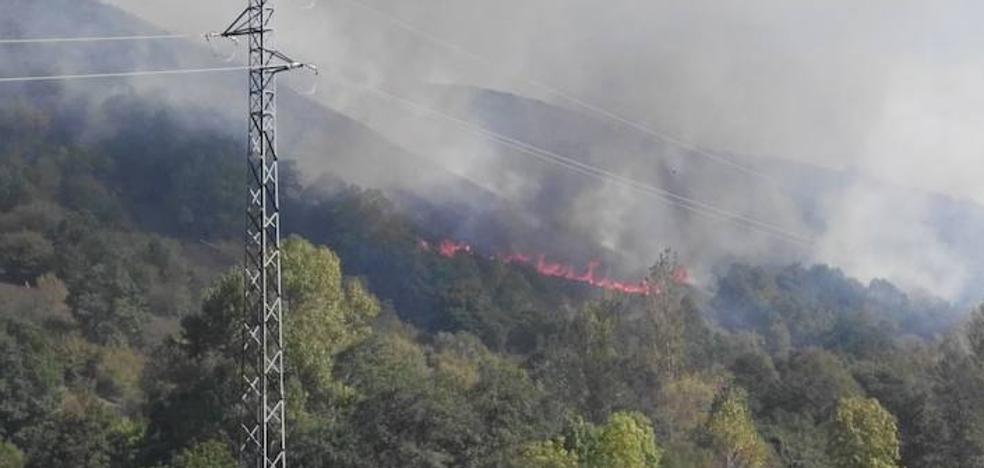 Cinco fuegos mantienen activo el Plan de Incendios en Asturias