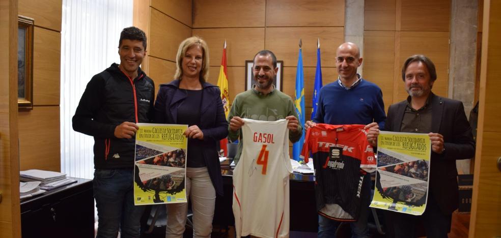 Chechu Rubiera encabeza mañana la II Marcha Ciclista en pro de los Refugiados