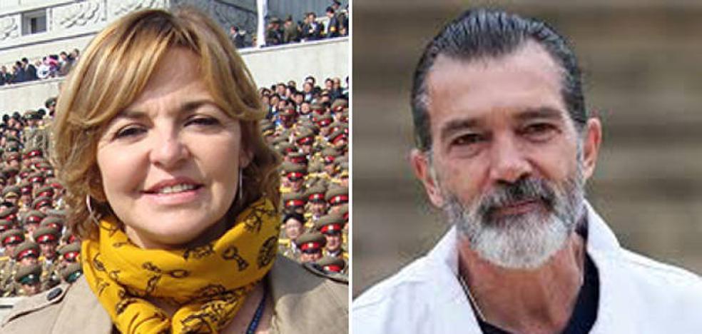 Encontronazo en Twitter entre Almudena Ariza y Antonio Banderas