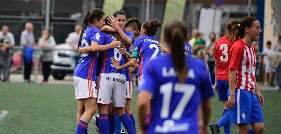 El Real Oviedo femenino vence al Sporting en el primer derbi