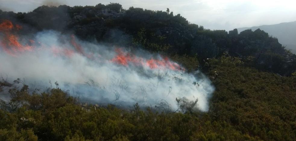 Catorce incendios elevan el nivel de alerta en Asturias