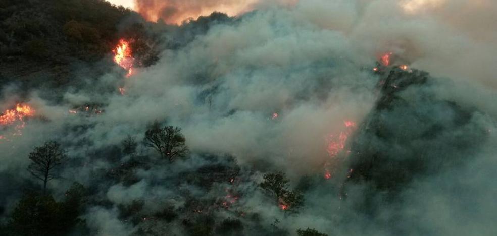 Las espectaculares imágenes de los incendios