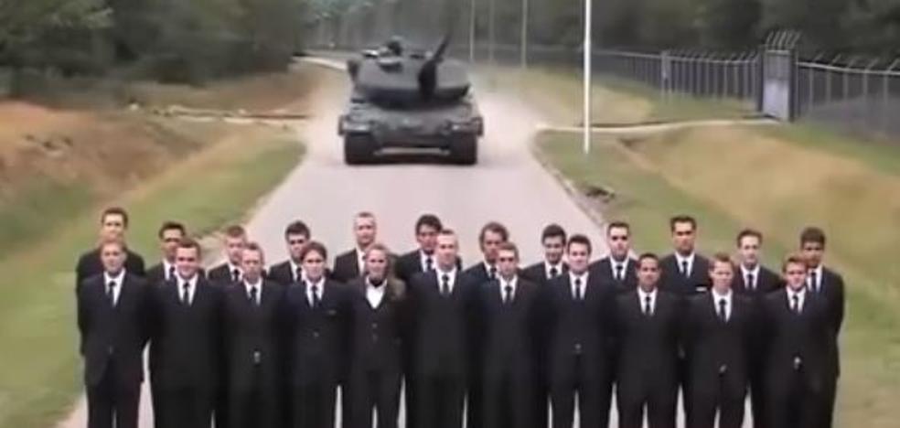 La arriesgada prueba de frenos de un tanque hecha por sus ingenieros