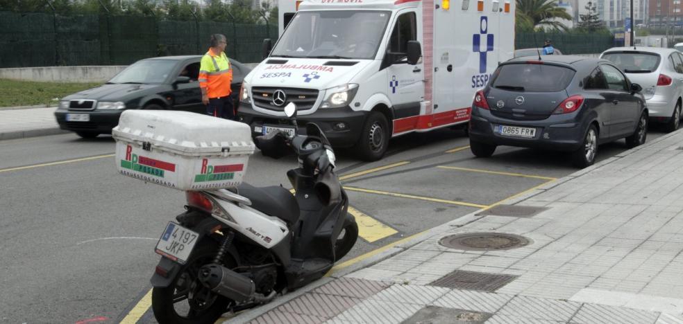 Herido un motorista después de que un coche realizase una maniobra prohibida