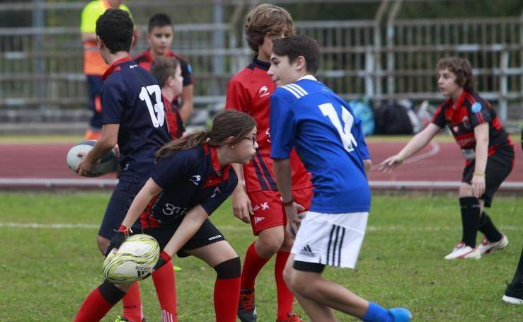 Los jugadores de rugby asturianos, a las órdenes de los All Blacks