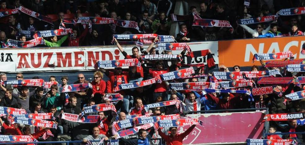 La Liga denuncia cánticos de «Puta España» de los radicales de Osasuna