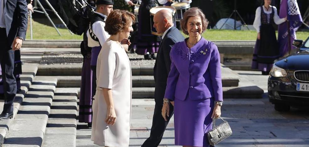 La Reina Sofía ya está en Oviedo