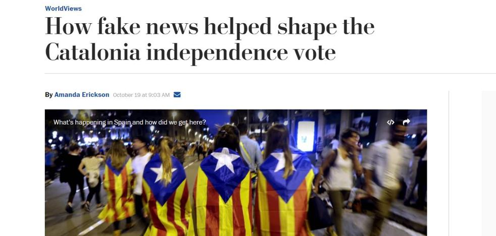 El 'Washington Post' se une a 'The Guardian' y señala las «noticias falsas» del independentismo