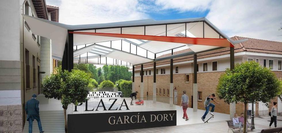 Parres remodelará la plaza García Dory con gradas y una cubierta de zinc