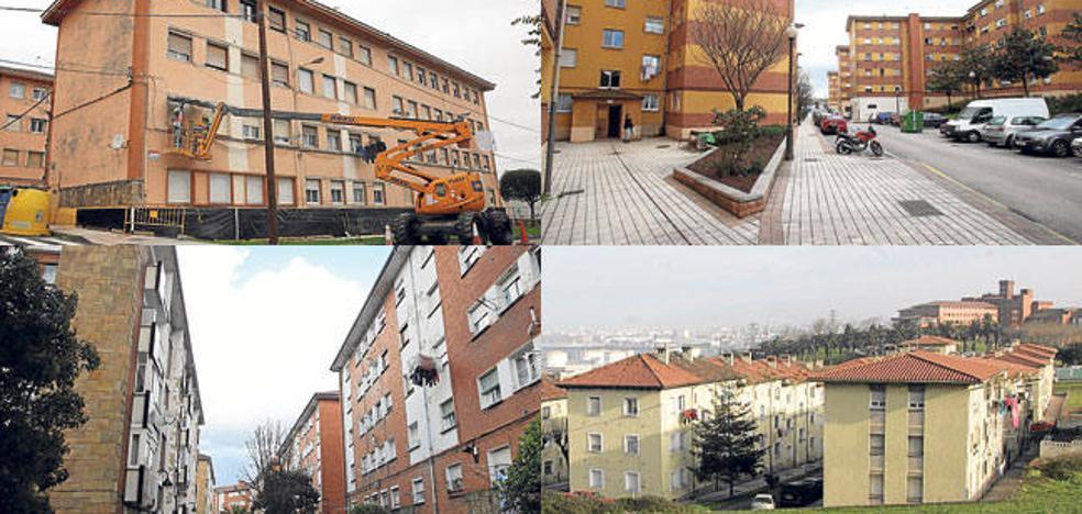 El Ayuntamiento de Gijón impulsa la rehabilitación a la vez de cuatro barrios degradados