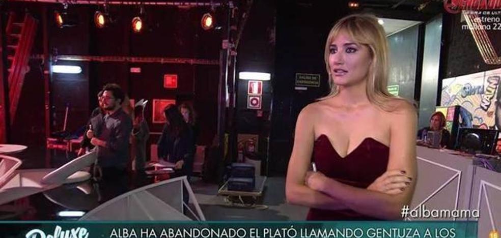 Alba Carrillo estalla y llama «gentuza» a los colaboradores de 'Sábado Deluxe'