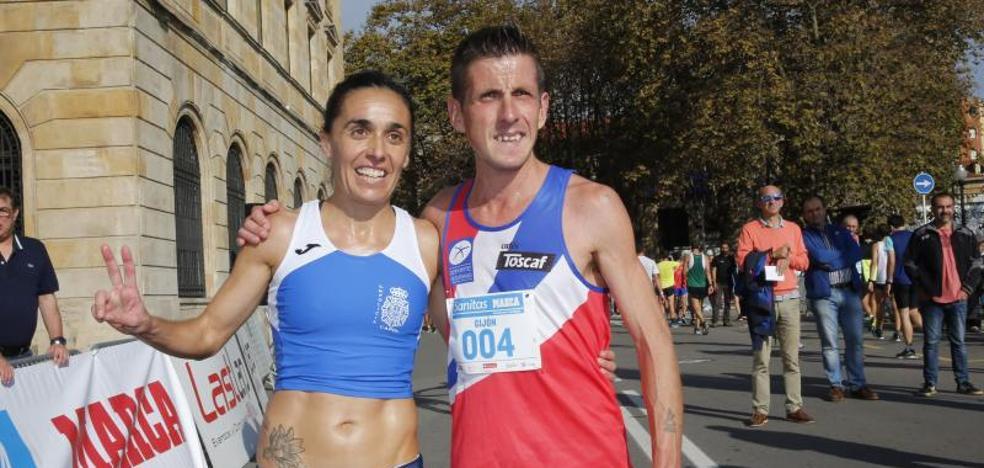 David Ginzo repite victoria en los 10k de Gijón