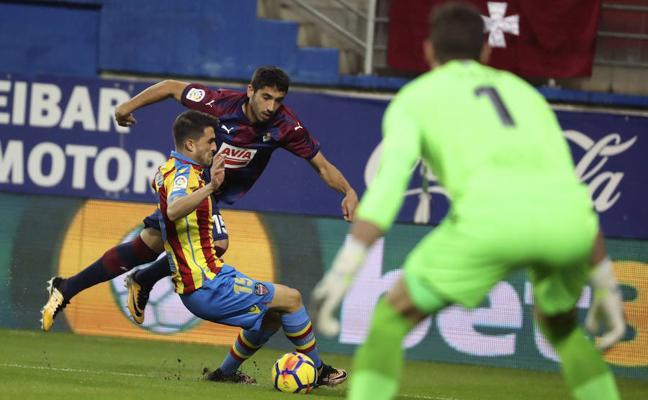 El Levante desaprovecha un 0-2 en Eibar