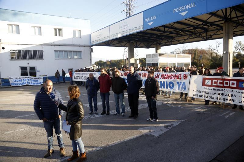 La plantilla de Capsa, en huelga