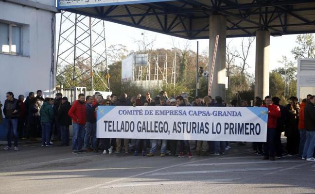 Los sindicatos cifran en un 100% el seguimiento de la primera jornada de huelga en Capsa