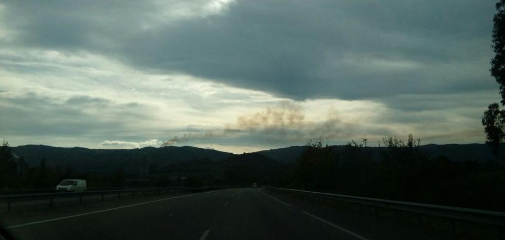 Incendio forestal en el Alto de la Campa