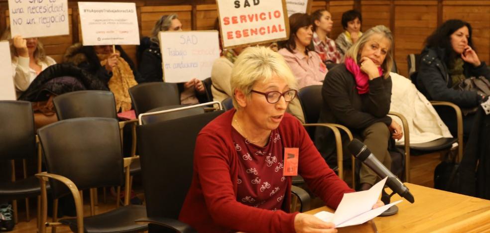 Moriyón: «Con cinco informes en contra, no vamos a municipalizar la ayuda a domicilio»