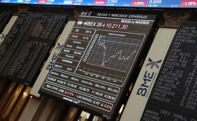El Ibex-35 cierra una semana en rojo sobre los 10.092,7 puntos