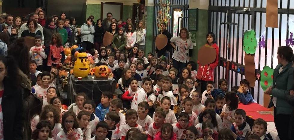 Un amagüestu 'de terror' en el colegio público de Obanca