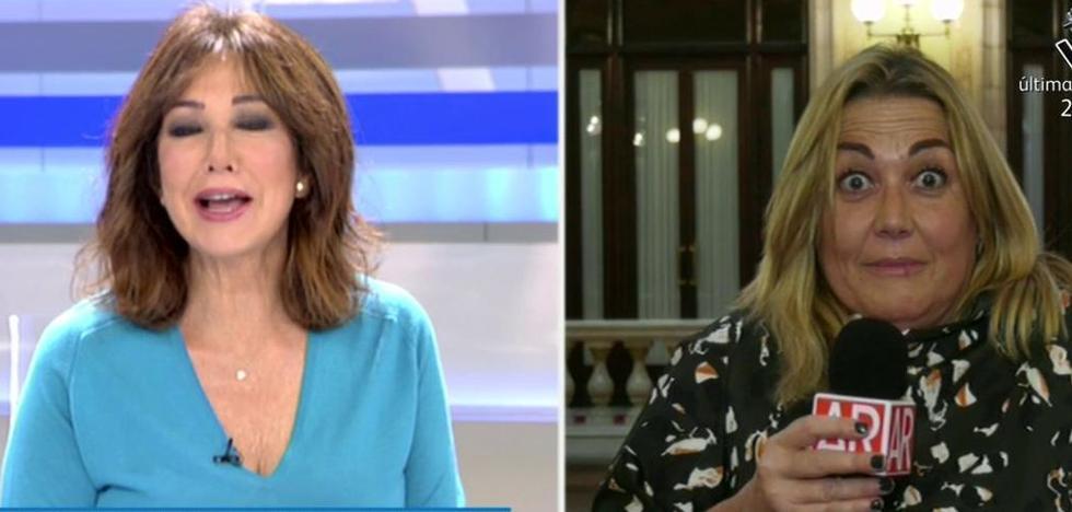 El toque de atención de Ana Rosa Quintana a una reportera en pleno directo