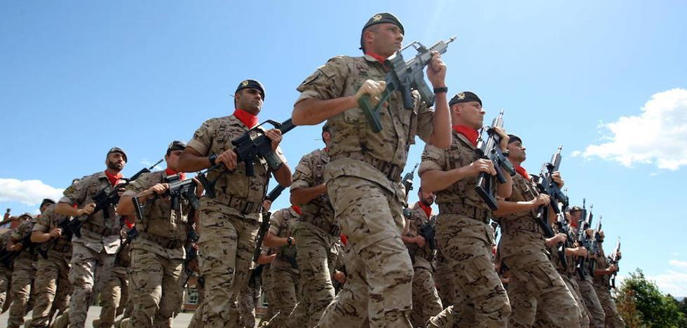 Los efectivos del Ejército en Asturias suben un 2,6% en seis años