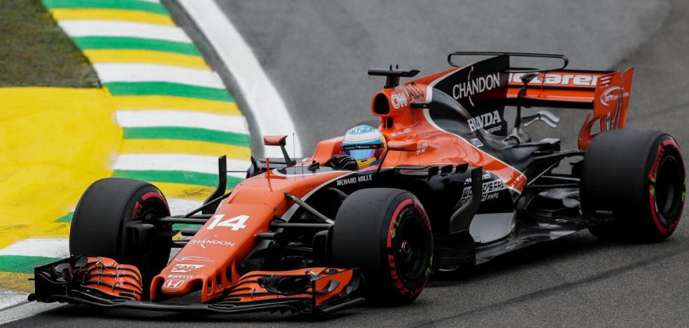Alonso pisa a fondo en Interlagos